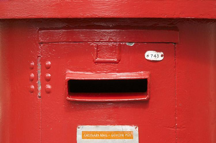 letter box, Kirstenbosch, South Africa, Cape Town